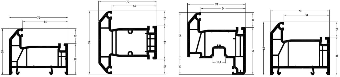 Rehau Grazio размеры стандартных профилей