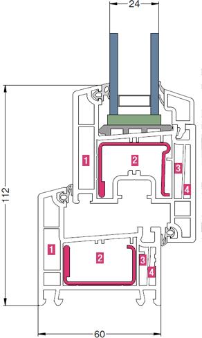 Размеры профиля Rehau Thermo