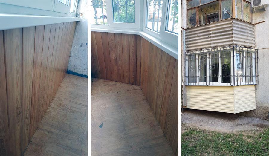 пример работы Севплюс, балкон под ключ