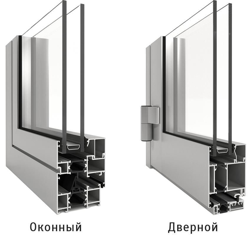 Алюминиевые окна и двери ALT W62 в Севастополе