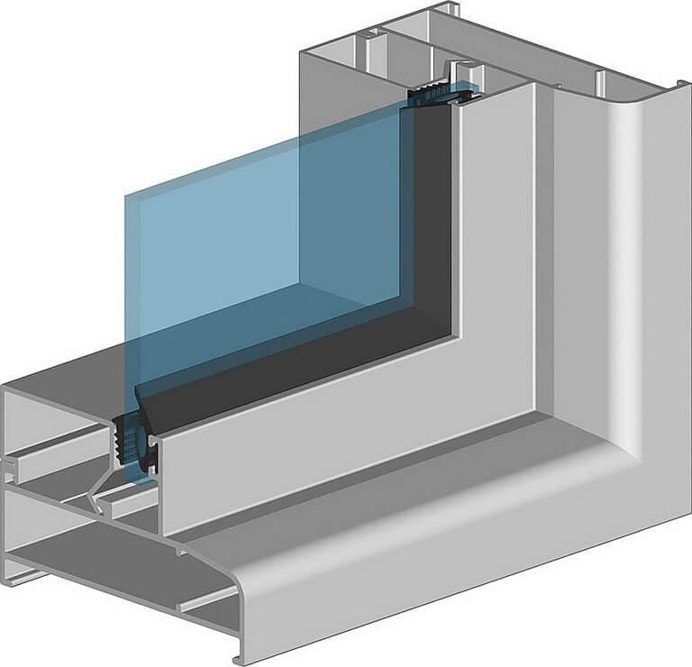 Глухие алюминиевые окна для балконов ALT100 в Севастополе