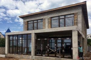 Остекление дома алюминием в Севастополе. Севплюс